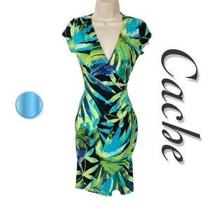 Cache Wrap Bodycon Dress
